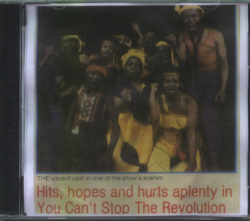 Image of cover of CD case of You can't stop a revolution.